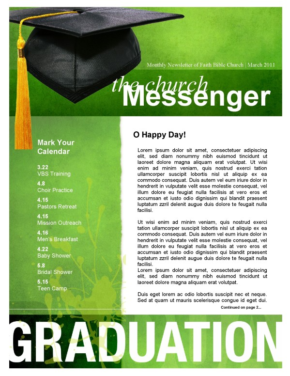 Graduation Newsletter