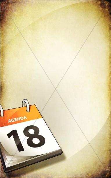 Church Calendar Bulletin Cover