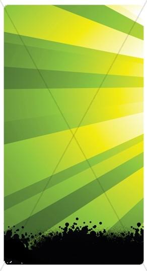 Green Rays Banner Widget