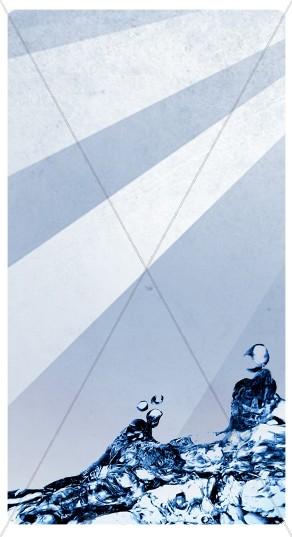 Baptism Rays Banner Widget