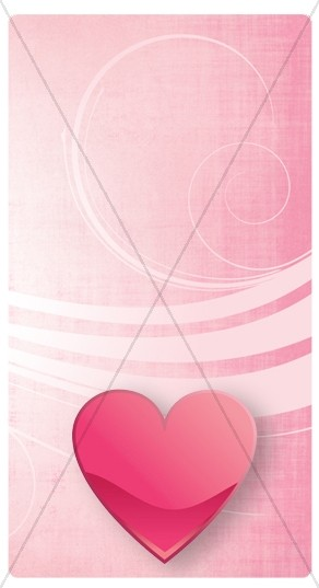 Heart Swirls Banner Widget