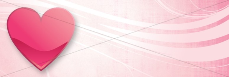 Pink Heart Website Banner