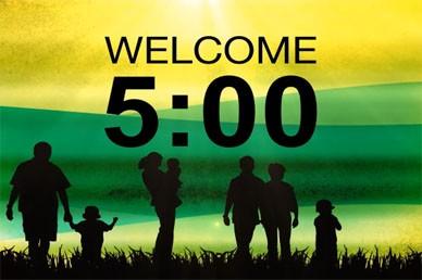 Worship Service Countdown Timer