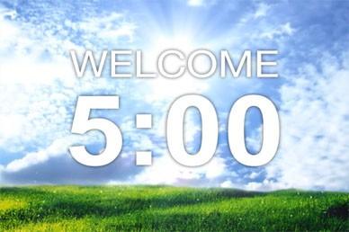 Countdown Video Loop Five Minutes