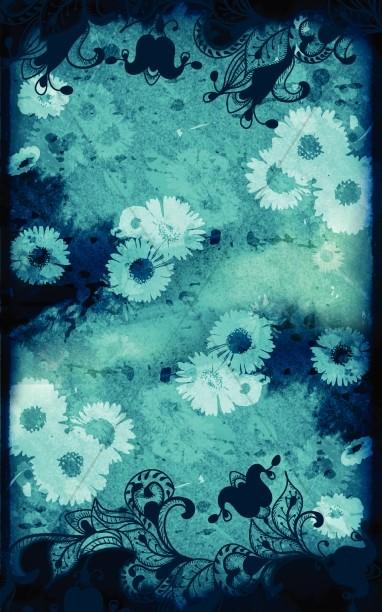 Blue Floral Bulletin Cover