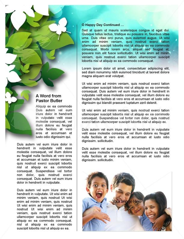 Green Leaves Church Newsletter