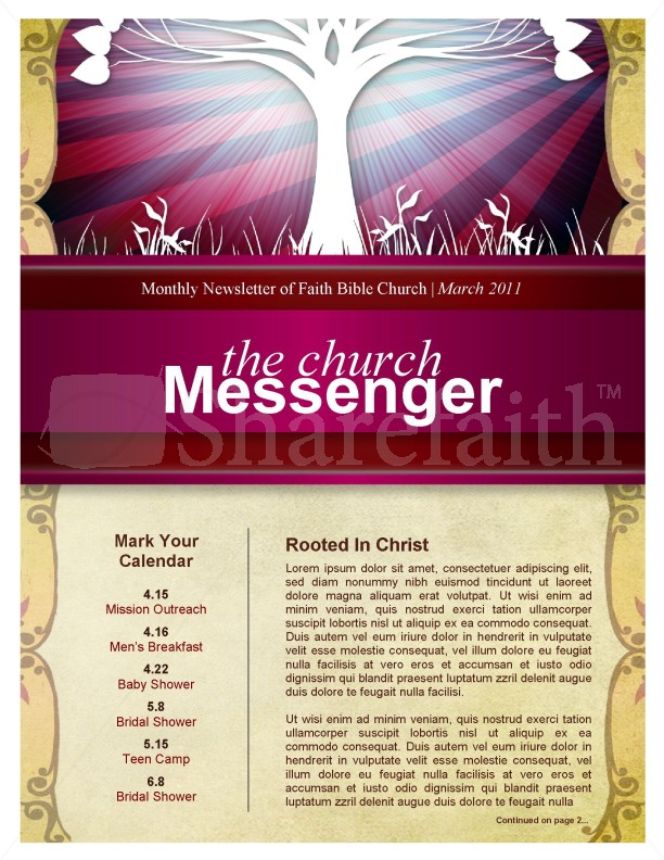 Tree Church Newsletter | page 1