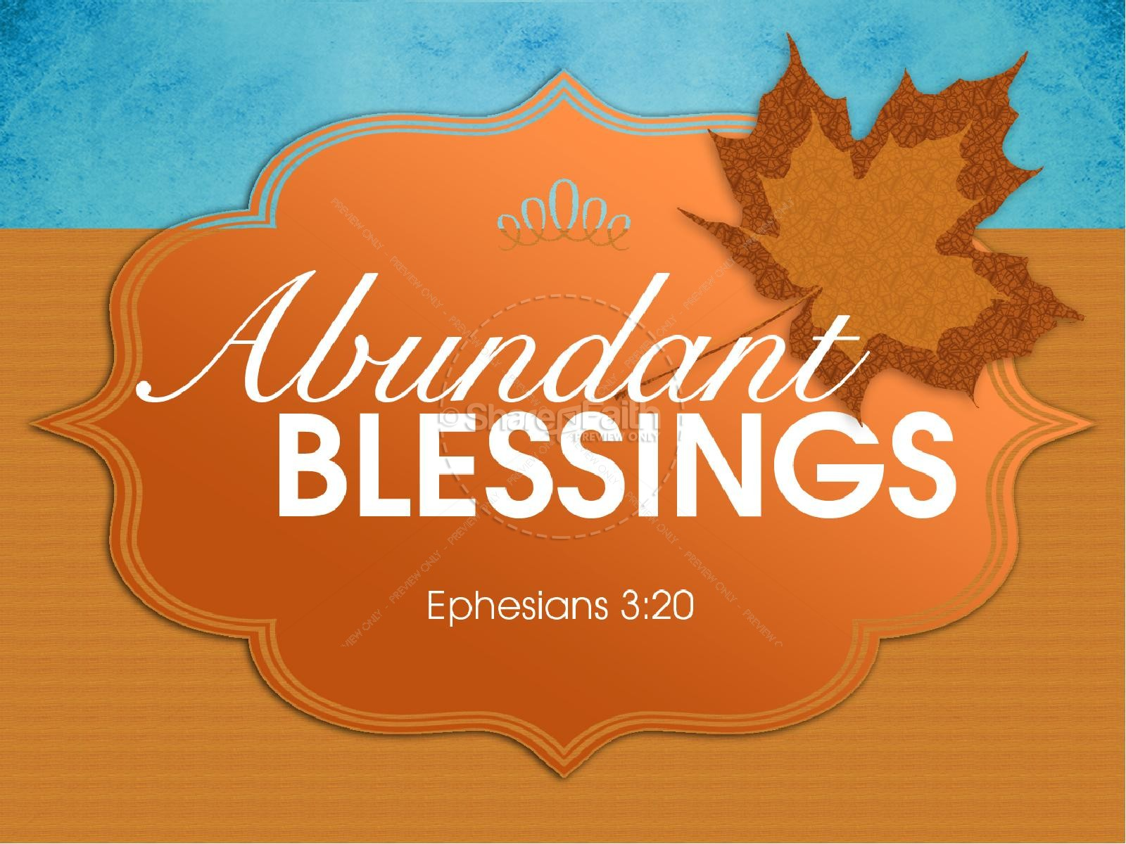 Abundant Blessings PowerPoint Sermon
