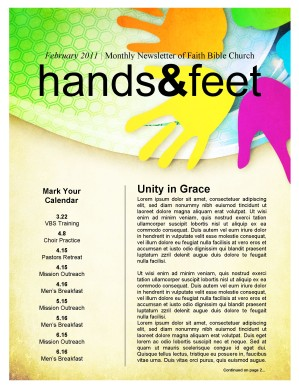 Colorful Church Newsletter Template Newsletter Templates - Children's newsletter templates free