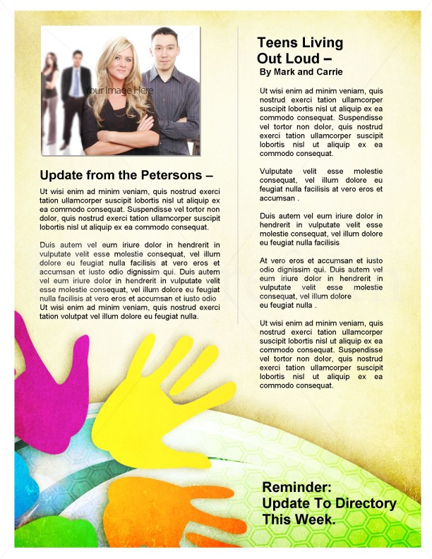 Colorful Church Newsletter
