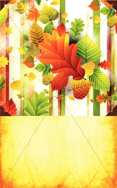 Fall Time Church Bulletin