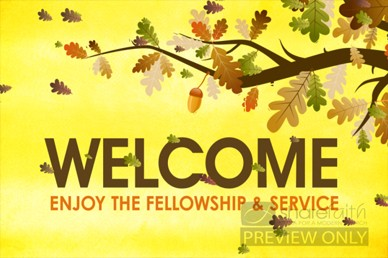 Fall Worship Welcome