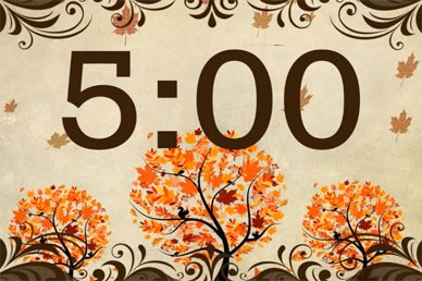 Autumn Tree Countdown Video