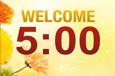Church Welcome Countdown Timer