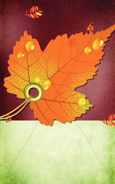 Fall Leaf Church Bulletin