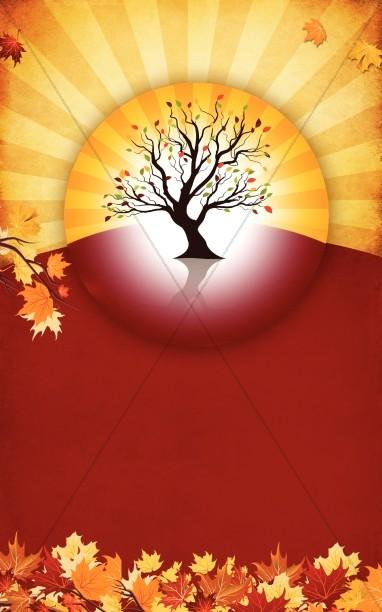 Autumn Tree Bulletin Template