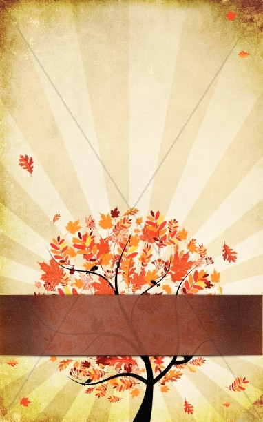 Orange Leaves Fall Bulletin Template