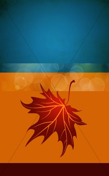 Thanksgiving Leaf Bulletin Cover