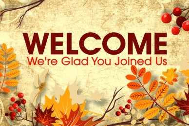 Welcome Church Video Fall