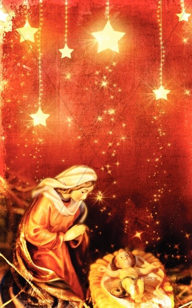 Kneeling Mary Christmas Bulletin