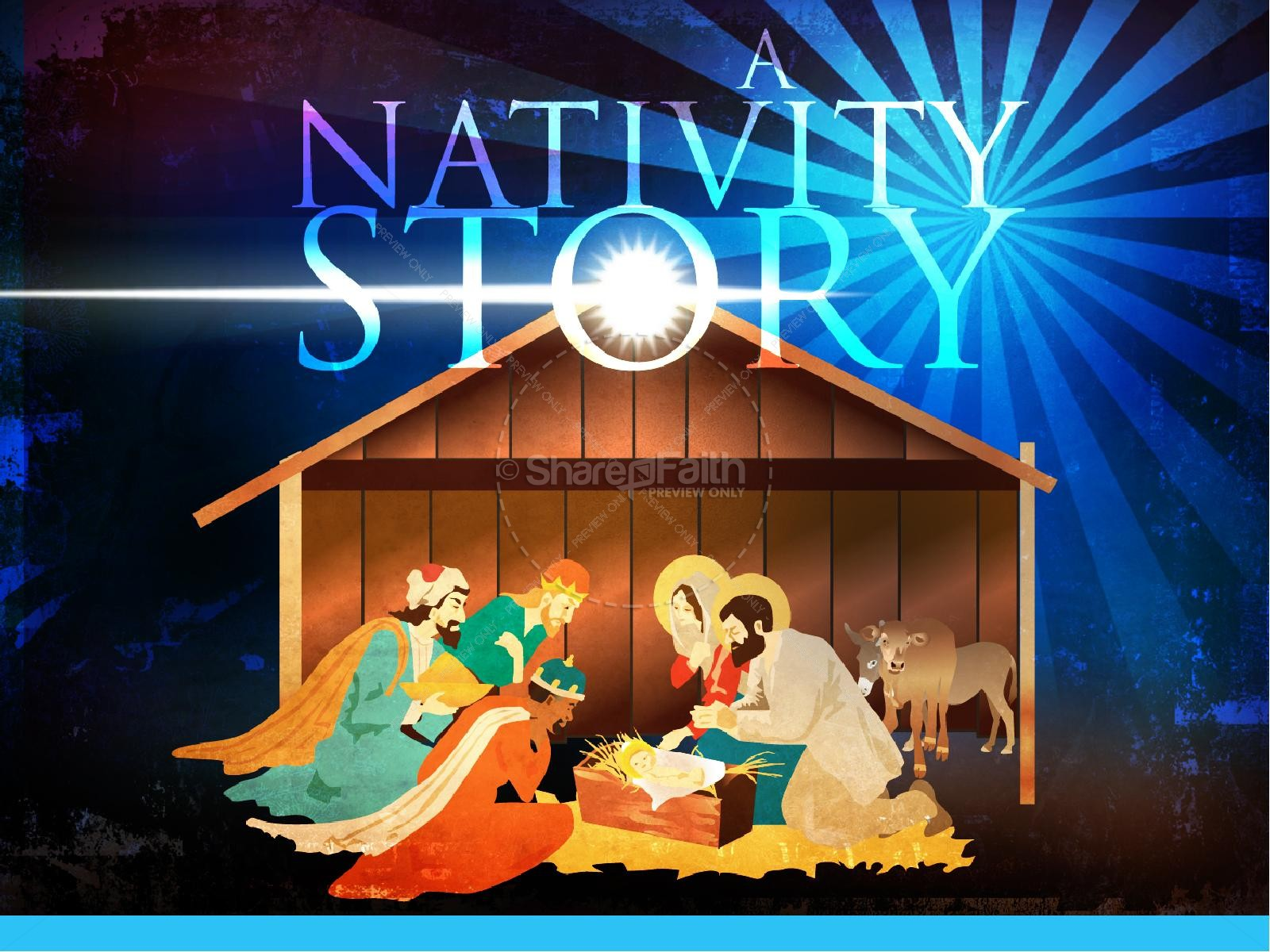 Story Of Christmas.The Nativity Story Christmas Powerpoint Christmas Powerpoints