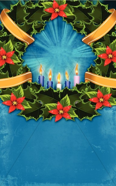 Advent Candles Bulletin Template