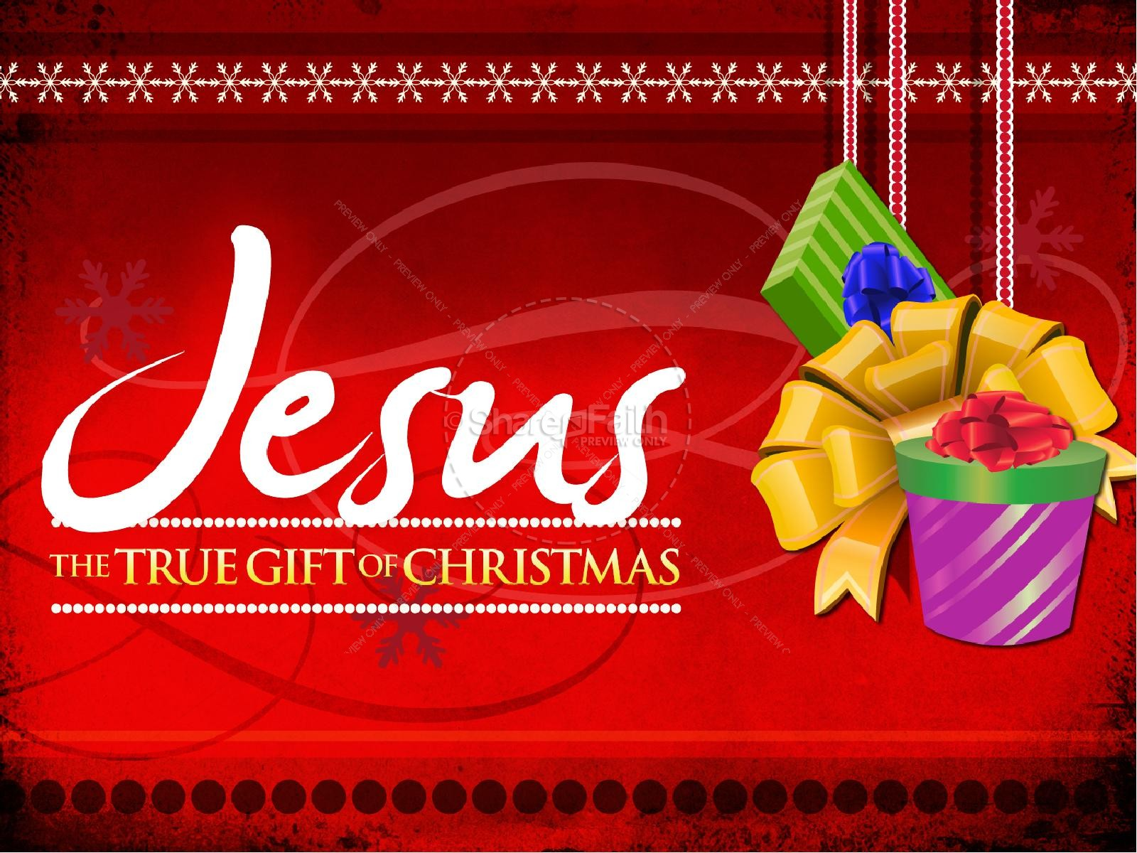 The Christmas Gift.Jesus Christmas Gift Powerpoint Sermon Christmas Powerpoints