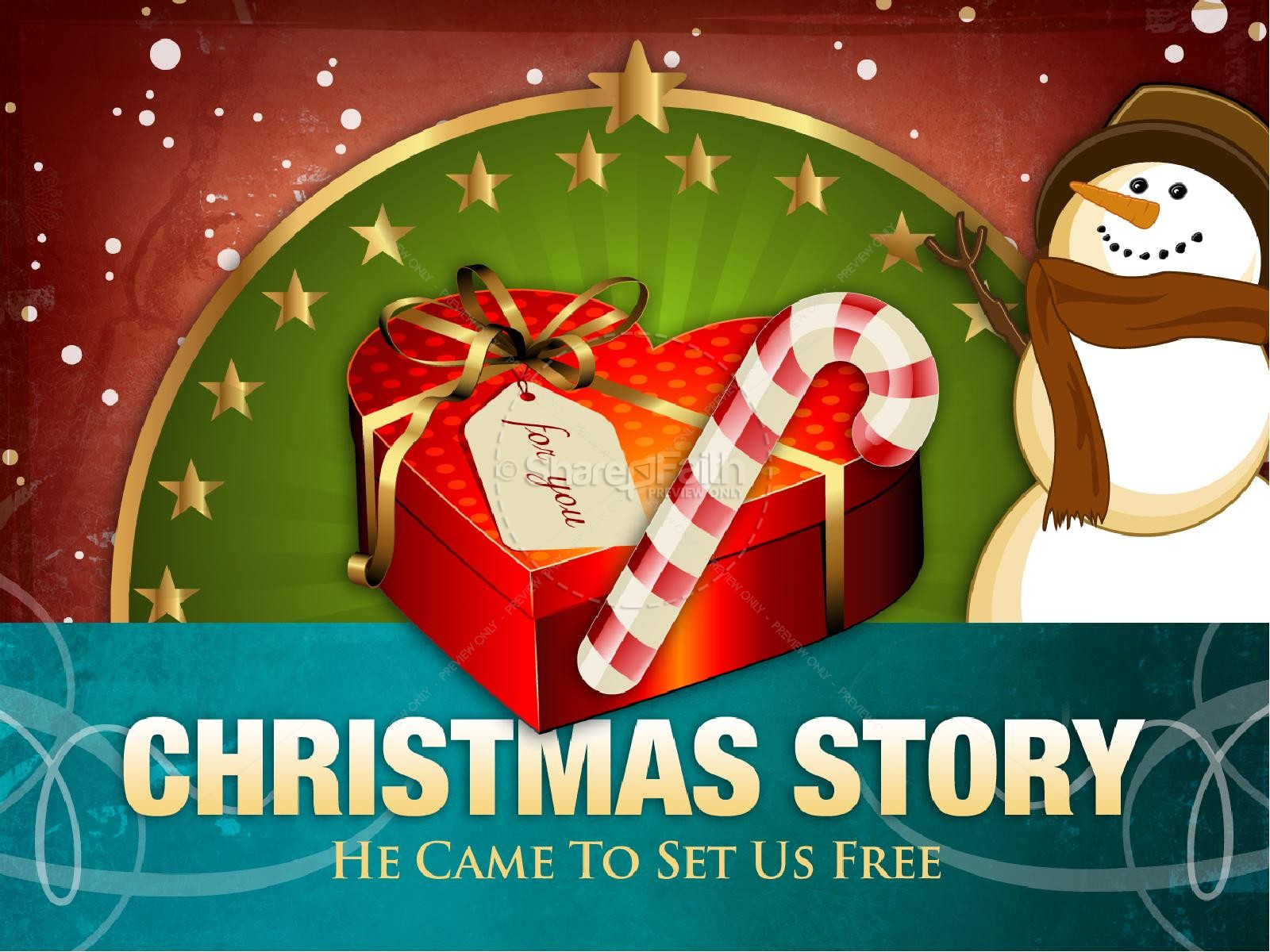 Christmas Story PowerPoint Template | Christmas PowerPoints