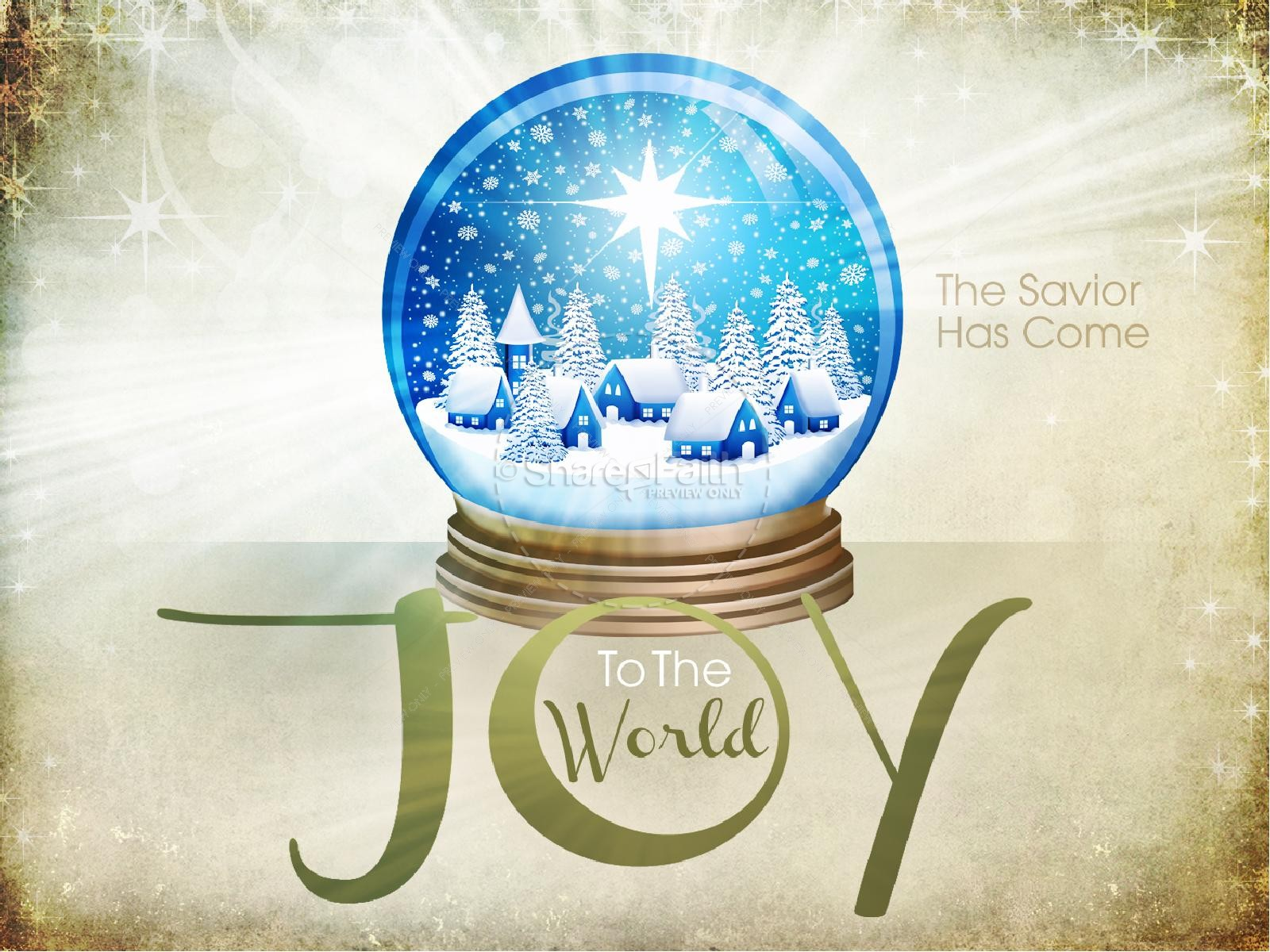Joy To The World Powerpoint Template Christmas Powerpoints