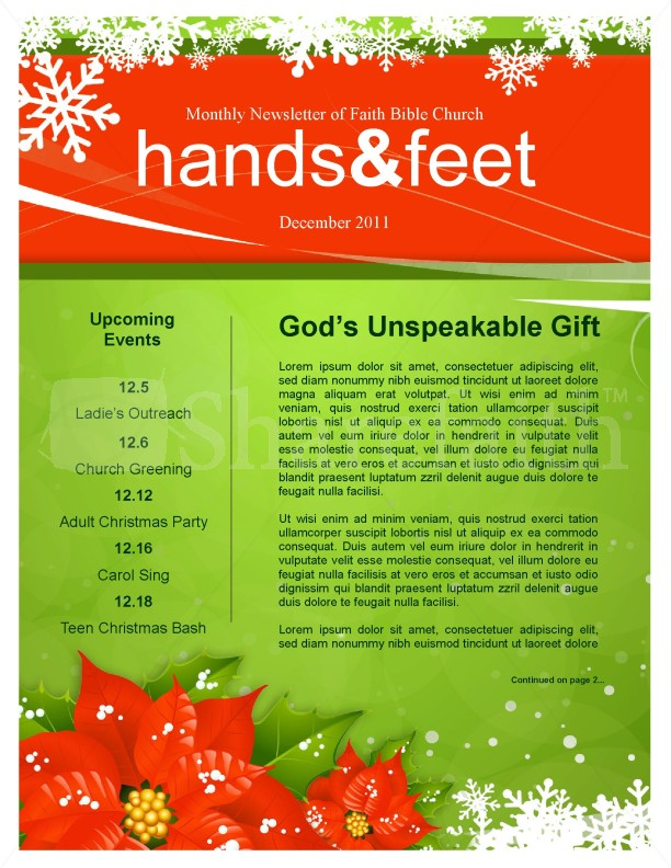 Holiday Newsletter Example  BesikEightyCo