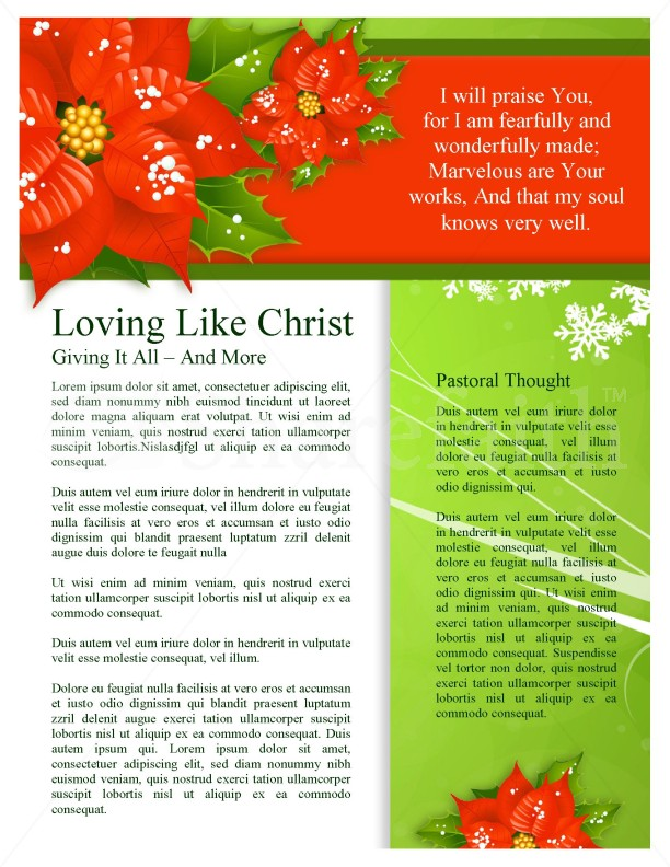 Christmas Colors Newsletter