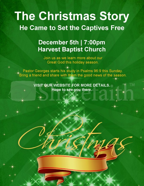 Christmas Story Church Flyer