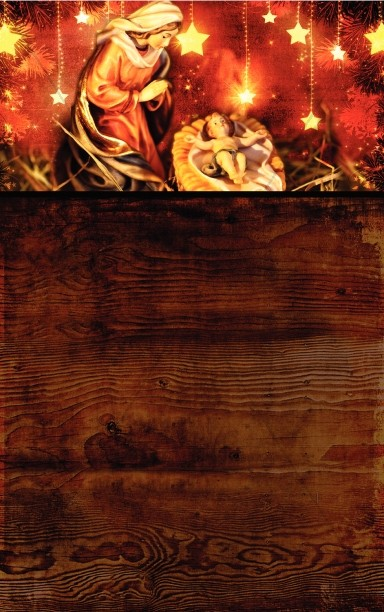 Mary and Baby Jesus Church Bulletin Template