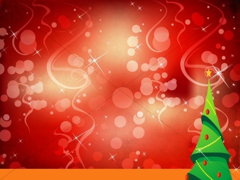 Christmas Tree Worship Background Slide