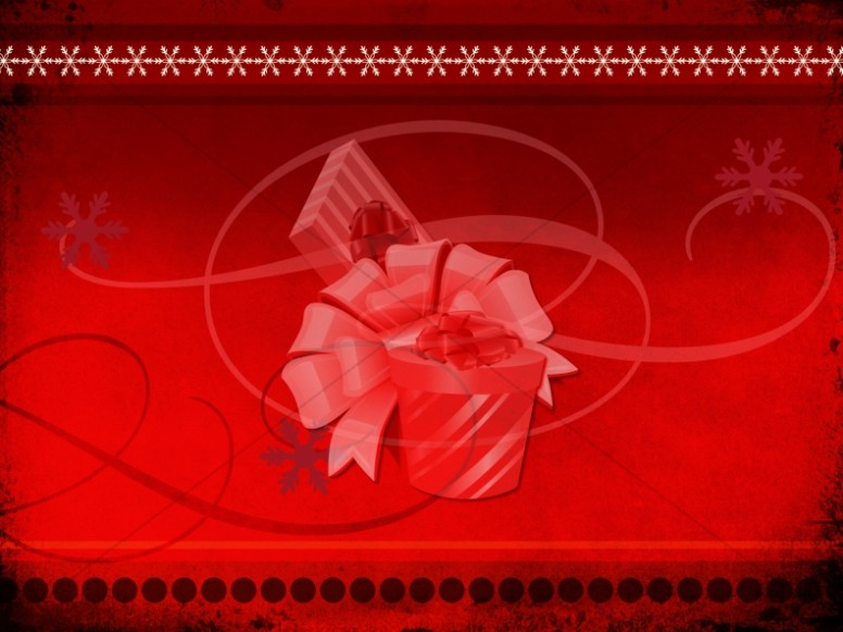 Christmas Gift Worship Background Slides