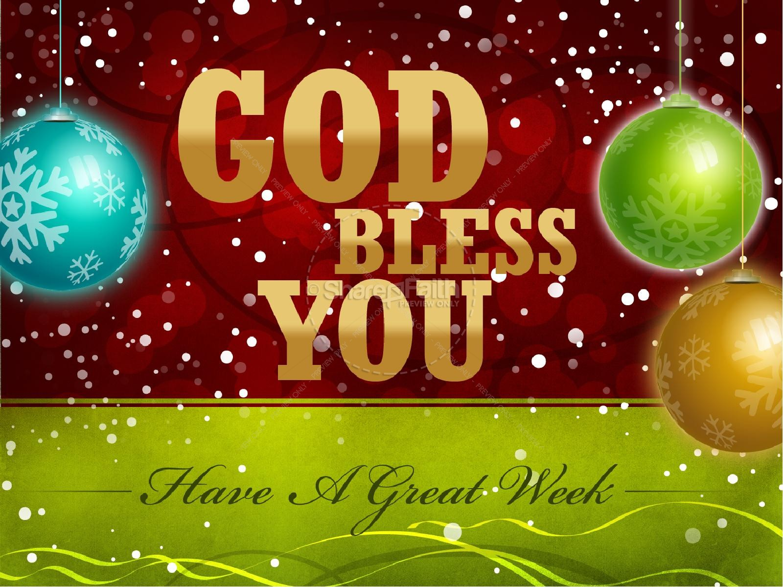 Christmas Blessing PowerPoint | Christmas PowerPoints
