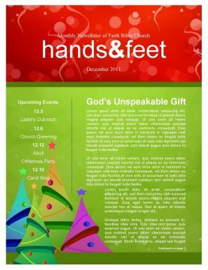 christmas newsletter template publisher
