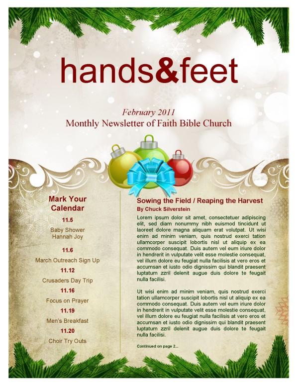 merry christmas newsletter