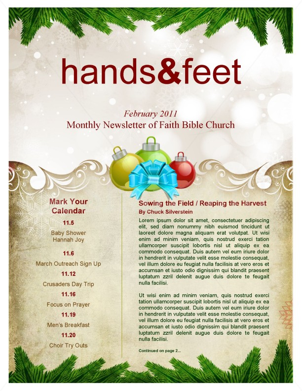 merry christmas newsletter template newsletter templates