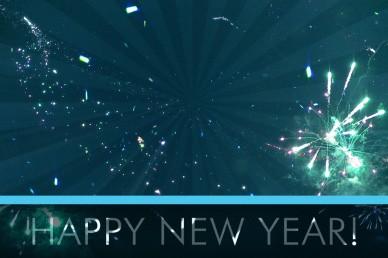 Happy New Year Explosion Video Loop