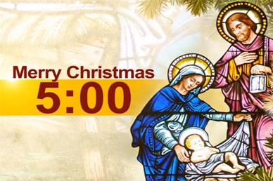 Nativity Christmas Countdown Video