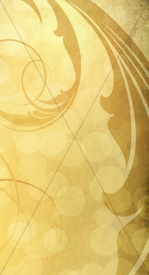 Yellow Scrollwork Banner Widget