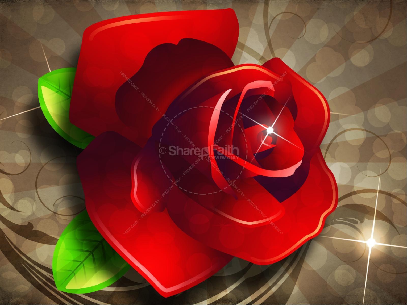 Valentine Rose PowerPoint Sermon Template   slide 7