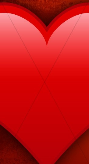 Red Heart Banner Widget