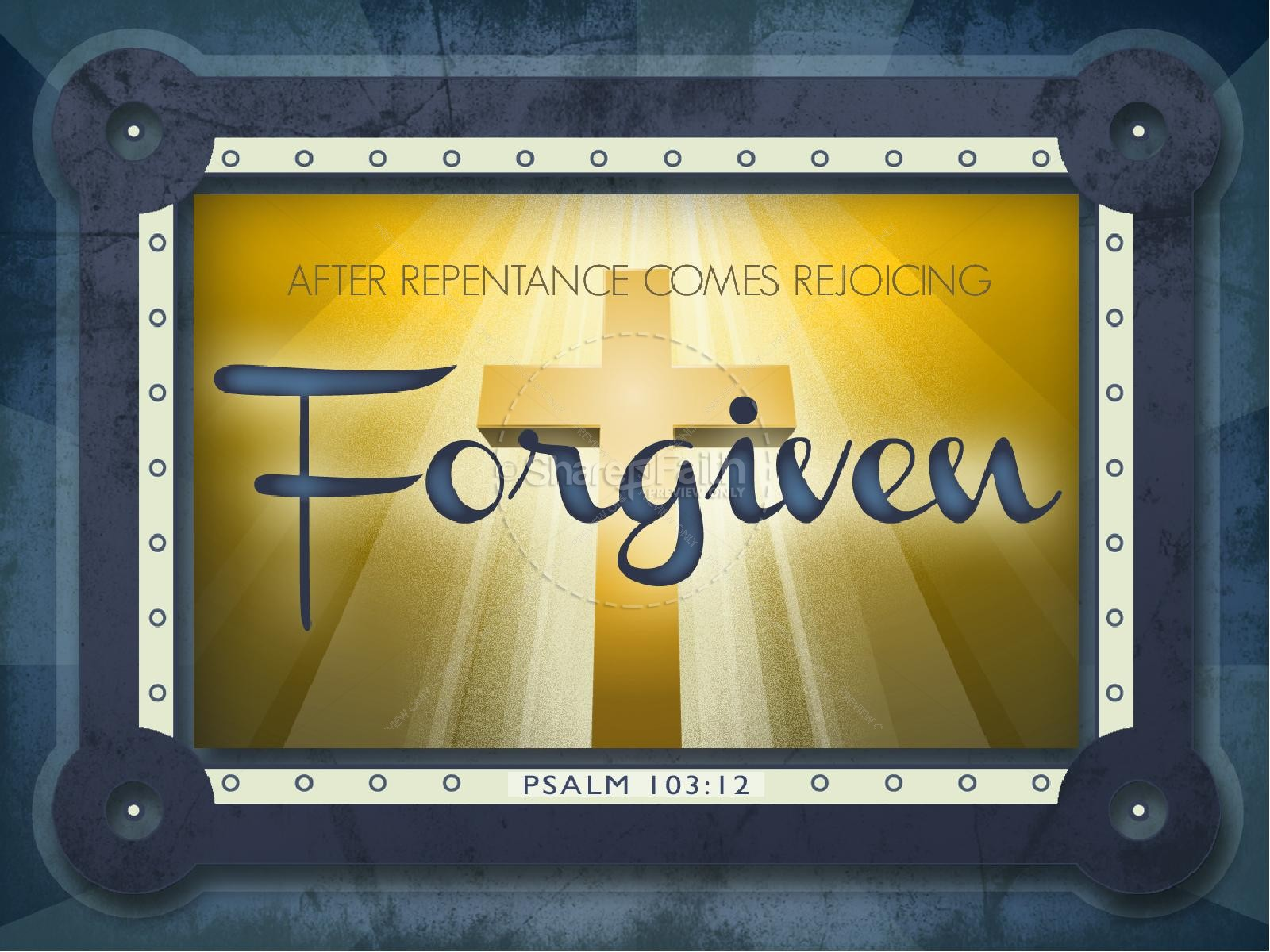 Forgiven PowerPoint | slide 1