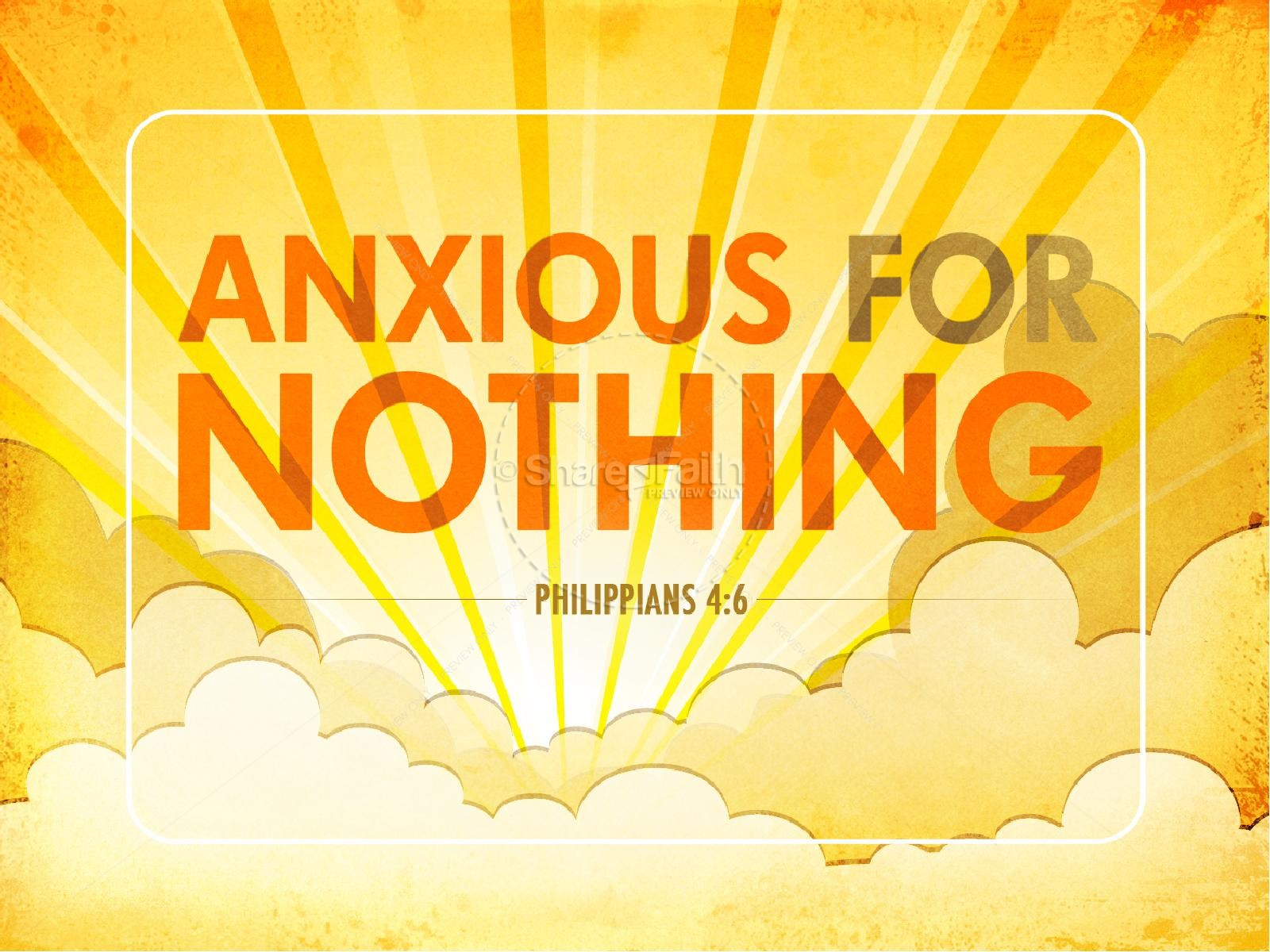 Anxious for Nothing PowerPoint