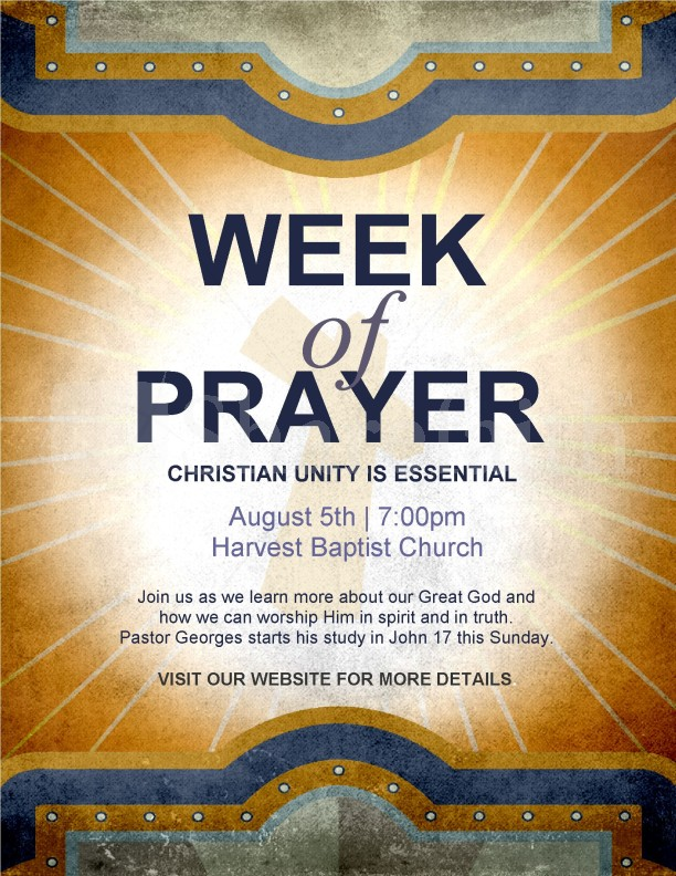 week of prayer flyer template