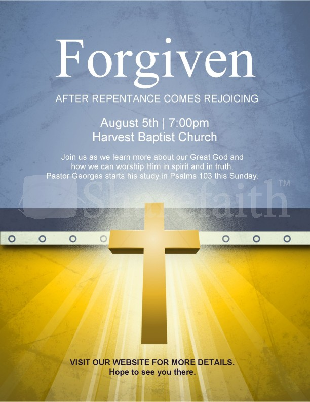 Forgiven Flyer | page 1