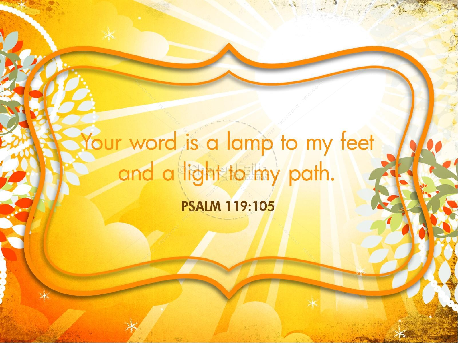 Image result for Psalm 119:105 graphic