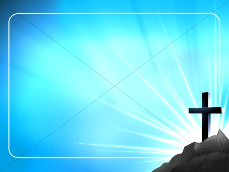 Cross and Blue Sky Worship Background